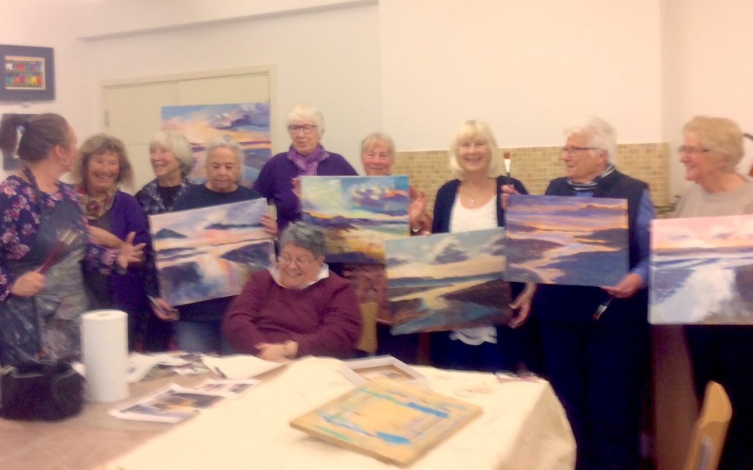 Workshop with Brushstrokes Art Group