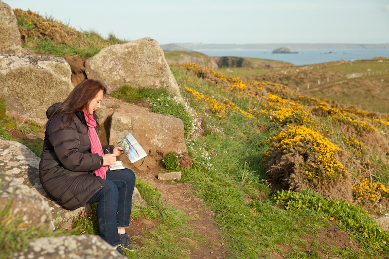 Sarah Jane Brown on the Pembrokeshire Coast Path